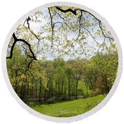 Blooming Landscape Round Beach Towel