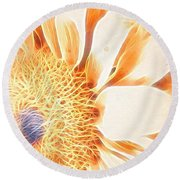 Bloomlit Round Beach Towel
