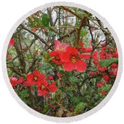 Blooms In The Alley Round Beach Towel