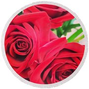 Blooms Of Red Round Beach Towel