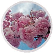 Blossom Bliss Round Beach Towel