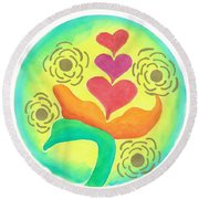 Blossoming From Within Round Beach Towel