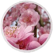 Blossoms Art Print Pink Spring Blossom Baslee Troutman Round Beach Towel