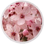 Blossoms Art Prints 63 Pink Blossoms Spring Tree Blossoms Round Beach Towel