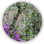Blossoms Galore Round Beach Towel