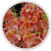 Blossoms In A Summer Shower Round Beach Towel