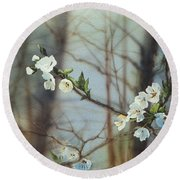 Blossoms In The Wild Round Beach Towel