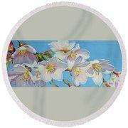 Blossoms Round Beach Towel