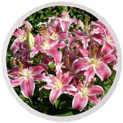 Blossoms Of Chase Lane Round Beach Towel
