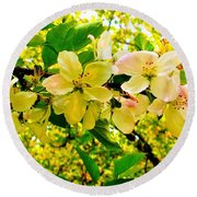 Blossoms Of Sunshine Round Beach Towel