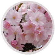 Blossoms On Bark Round Beach Towel