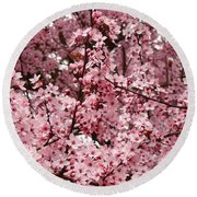 Blossoms Pink Tree Blossoms Giclee Prints Baslee Troutman Round Beach Towel