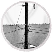 Blot On The Landscape Round Beach Towel