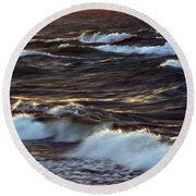 Blowing In The Wind 2 Round Beach Towel