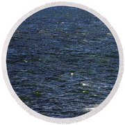 Blowing In The Wind Round Beach Towel by David Lee Thompson