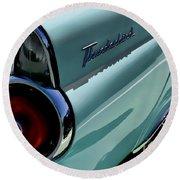 Blue 1955 T-bird Round Beach Towel by Douglas Pittman