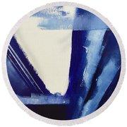 Blue Abyss Round Beach Towel