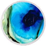 Blue And Green Art - Pools - Sharon Cummings Round Beach Towel