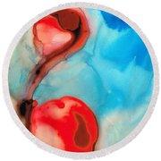 Blue And Red Art - Crimson Dance - Sharon Cummings Round Beach Towel