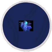 Blue Angel Round Beach Towel