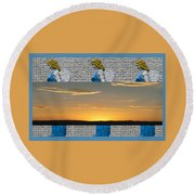 Blue Angels At Sunset Round Beach Towel
