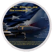 Blue Angels Ta-4j Skyhawk Round Beach Towel