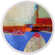 Blue Arch Round Beach Towel