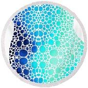 Blue Art - Colorforms 3 - Sharon Cummings  Round Beach Towel