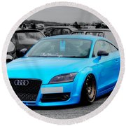Blue Audi Round Beach Towel