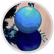 Blue Ball 2 Round Beach Towel