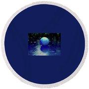 Blue Ball 4 Round Beach Towel