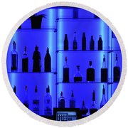 Blue Bar Round Beach Towel