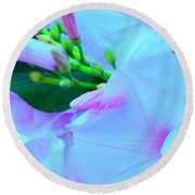 Blue Beauty Round Beach Towel