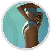 Blue Bikini Sixty Two Round Beach Towel