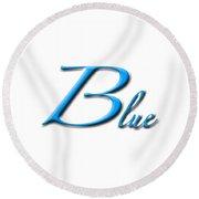 Blue Round Beach Towel