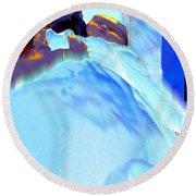 Blue Blanket Round Beach Towel