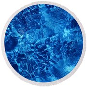 Blue Blue Water Round Beach Towel