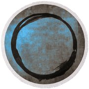 Blue Brown Enso Round Beach Towel
