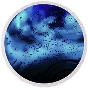Blue Bubbles Round Beach Towel