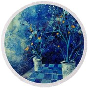 Blue Bunch Round Beach Towel
