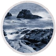 Blue Carmel Round Beach Towel