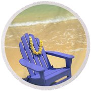 Blue Chair Round Beach Towel