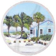 Blue Cottage On Siesta Key Beach, Access 3 Round Beach Towel