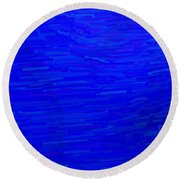 Blue Currents Round Beach Towel