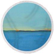Blue Danube Round Beach Towel
