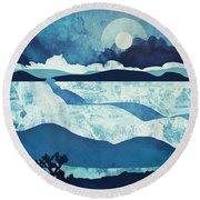 Blue Desert Round Beach Towel