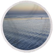 Evening Blue Round Beach Towel