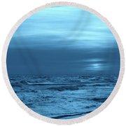 Blue Evening Round Beach Towel