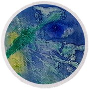 Blue Eye Round Beach Towel