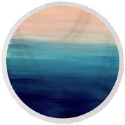 Blue Fade Round Beach Towel